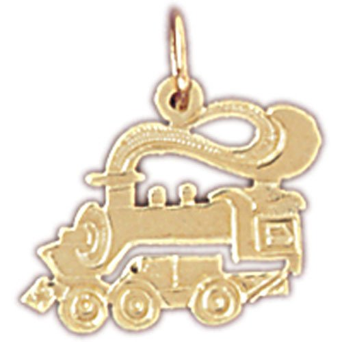 14kt Yellow Gold Train Engine Locomotive Pendant