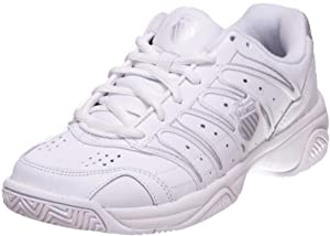 K-Swiss Women's Grancourt II Tennis Shoe,White/Silver,8.5 M