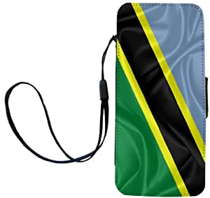 Rikki Knight Tanzania Flag Flip Wallet iPhoneCase with Magnetic Flap for iPhone 5/5s - Tanzania Flag