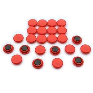 Magnet Expert Ltd Büro- und Kühlschrankmagneten, 20 x 7,5mm, Rot, 24 Stück