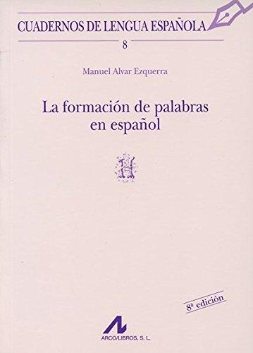 FORMACION DE PALABRAS EN ESPAÑOL
