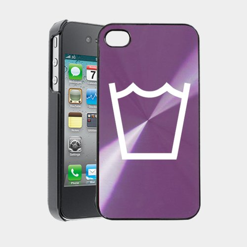 Machine Wash Laundry Symbol Iphone 4 Case Iphone 4S Case - Metaltouch Cd Purple Aluminium Shell Protective Case front-344220