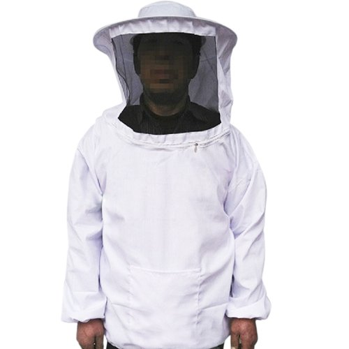 White Beekeeping Jacket Veil Bee Protecting Suit Bee Protective Equipment