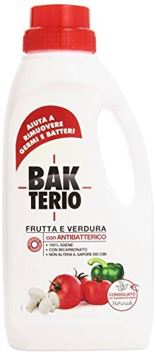 BakTerio - Frutta e Verdura, Detergente a Base di Ingredienti di Origine Naturale , 1 l
