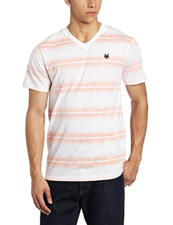 (新品) $4.89 Zoo York Men's ZY Frequency V-T-Shirt男款棉混织条纹T恤