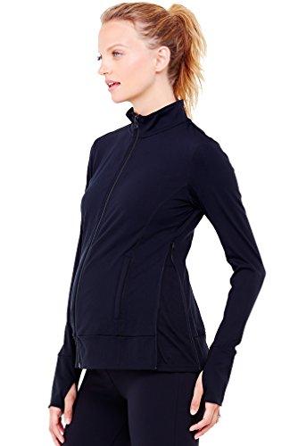Ingrid & Isabel Side Zip Active Maternity Jacket - Black - X-Small front-615384
