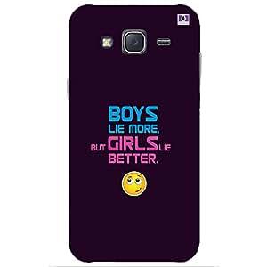 Boys Lie More But Girls Lie Better - Mobile Back Case Cover For Samsung Galaxy J7 (2015)