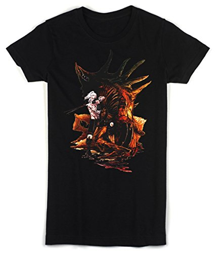 The Witcher Wild Hunt Demon And Geralt Women's T-shirt Small