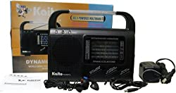 Kaito KA007L AM FM SW TV Weather VHF Dynamo Solar Powered Emergency Radio, With 8 Super bright LED lights