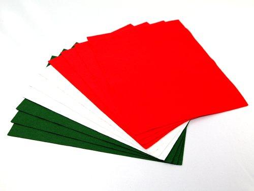 Fyba 10 fogli di feltro colore rosso bianco verde - Caduta fogli di colore stampabili ...