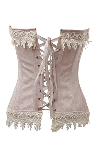 Kiwi Rata Womens Sexy Steampunk Dress Boned Corset for Waist Training Bustier Lace Up Plus Size 1
