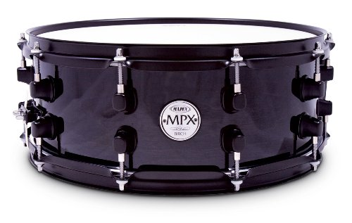 Mapex Mpx 14 Inch X 5.5 Inch All Birch Snare Drum In Transparent Black Lacquer Finish With Black Hardware