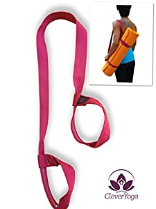 Clever Yoga Mat Strap Sling Made With The Best, Durable Cotton - Comes With Our Special