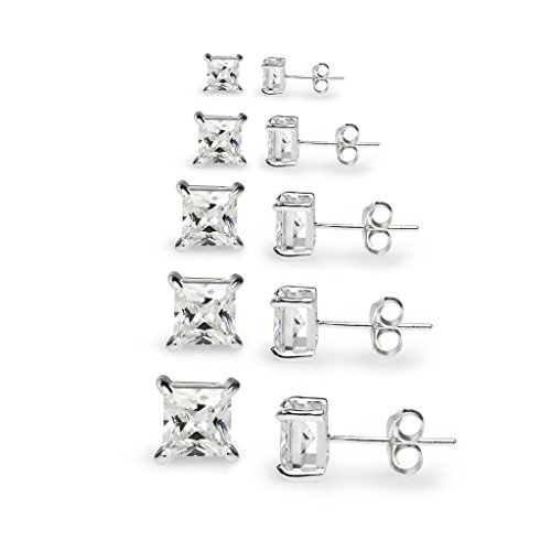 river-island-jewelry-5-pairs-sterling-silver-square-princess-cut-cz-stone-cubic-zirconia-basket-stud