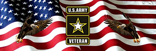 Army Veterans American Flag Eagles Full Size Rear Truck Window Graphic (Military Rear Window Graphics compare prices)