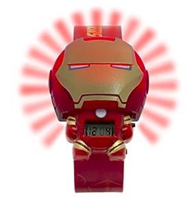 Para niños BulbBotz Marvel Iron Man Digital pantalla Digital reloj infantil con mecanismo de Coronado controls y rojo Pulsera sintética 2020138 de BulbBotz