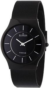 Skagen Men's 233LTMB Black Titanium Mesh Bracelet Watch