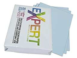Monoprice 111760 Blue Colored Copy Paper, 75 GSM, 20-Lbs, Ream of 500-Sheets