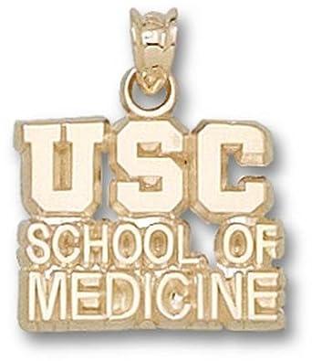 South Carolina Gamecocks USC School of Medicine Pendant - 14KT Gold Jewelry by Logo Art