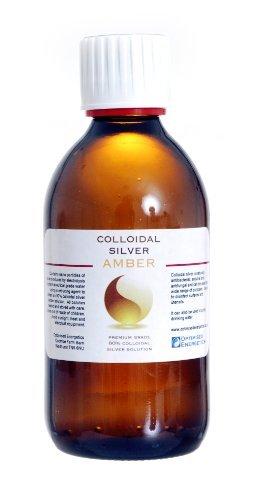 Premium Amber 80% True Colloidal Silver - 300 ml bottle