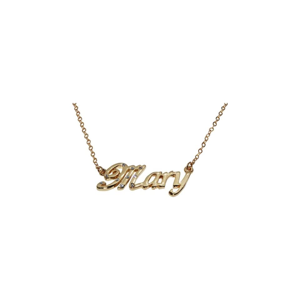 71f8993c60ff4 Name Necklaces Mary Personalized Necklace Gold Plated 18K, Belcher ...