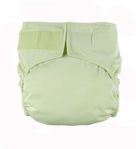 Celery Velcro Easy Clean One Size Pocket Cloth Diaper by Mommy's Touch - 1