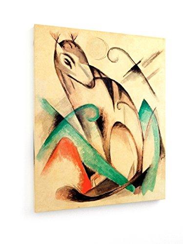 franz-marc-criatura-mitica-sentado-40x50-cm-weewado-impresiones-sobre-lienzo-muro-de-arte
