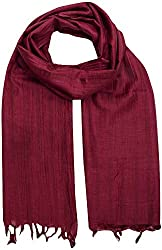 Sahiba Creation trendy and colourful women stole for all time wear(rich maroon)