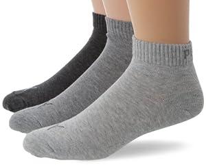 Puma Quarter - Chaussettes de sport - Lot de 3 - Homme - Gris (Anthraci/L Mel Grey/M Mel Grey) - FR: 43-46 (Taille fabricant: 43/46)