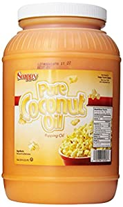 Snappy Popcorn 1 Gallon Colored Coconut Oil, 8 Pound