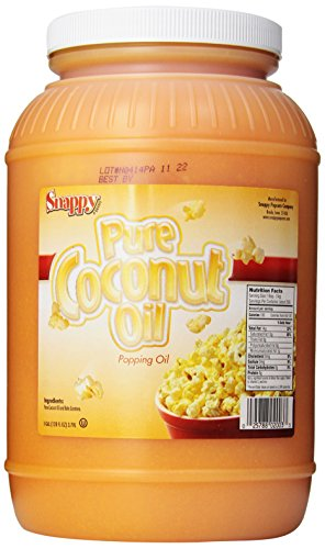 Snappy Popcorn Colored Coconut Oil, 1 Gallon (Coconut Butter For Popcorn compare prices)