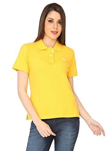 The-Cotton-Company-Luxury-Polo-T-Shirt-for-Women-Sun-Kissed-Yellow