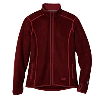 Women's Kuhl Tara Full-Zip Fleece Jacket, SCARLET, Size XLARGE