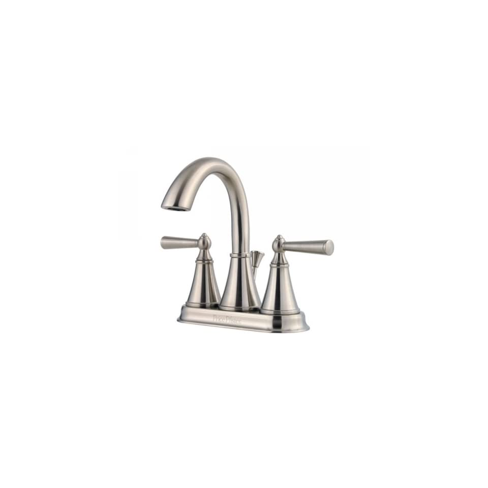 Price Pfister T48 GL0K Saxton 4 Centerset Bathroom Faucet   Brushed Nickel