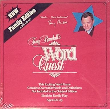 Tony Randall's Word Quest Game - Family Edition