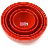 Bonny Red Bowl Set, 5-Piece