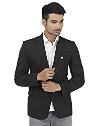 PLATINUM STUDIO Men Solid Single Breasted Blazer, Grey