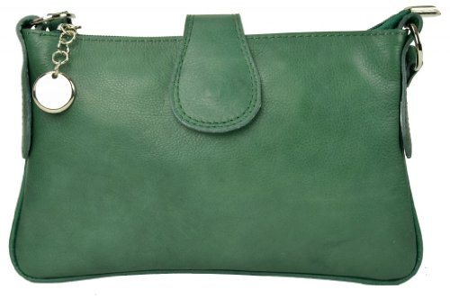 Gusti Genuine Nappa Leather Handbag Purse Clutch Shoulder Bag Satchel Leisure City Party Evening Bag Women Green K23