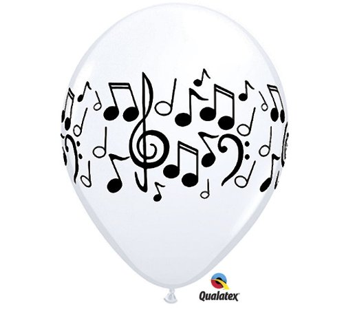 "11"" Music Notes Latex Balloons - Package of 12 - 1"