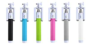 Selfie Stick, Monopod Extendable, Built-in BLUETOOTH for Apple / Android Dual Mode Integration: IOS iPhone 6s, 6s Plus, 6, 6 Plus, 5S, 5C, 4, 4S, 3GS, 3, 2, Samsung Galaxy S6, S5, Note5 (White)
