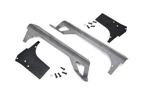Rough Country 70502 - 50-Inch Led Light Bar Upper Windshield Mounting Brackets (Jeep Tj/Lj - Unpainted) For Jeep: Wrangler Tj 4Wd, Wrangler Unlimited Lj 4Wd