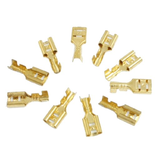 Boat Car Speaker 4.8Mm Female Spade Terminal Wire Connector 10 Pcs