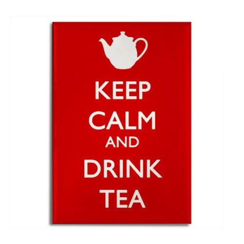 Cafepress Keep Calm And Drink Tea Rectangle Magnet - Standard Multi-Color