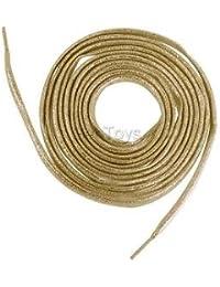 Alcoa Prime 2 Metallic Glitter Gold Flat Shoe Lace String For Boot Sneaker Trainer 160cm