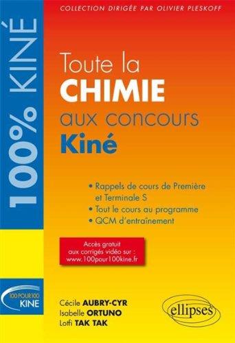 Toute la Chimie aux Concours Kiné