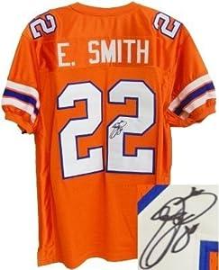 Emmitt Smith signed Florida Gators Orange TB Custom Jersey- Smith Hologram