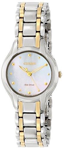 Citizen Women'S Em0284-51N Silhouette Analog Display Japanese Quartz Two Tone Watch
