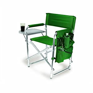 Picnic Time Portable Folding Sports Chair Hunter Green by Picnic Time
