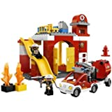 Top Lego Duplo Fire Station (6168) with accompanying LEGO Storage Bag
