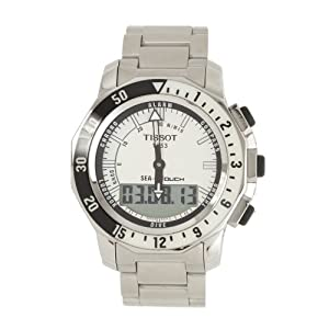 Tissot Men's T0264201103100 Sea Touch Quartz Chronograph Touch Screen White Dial Watch